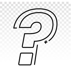 Question mark line art icon for apps and websites vector