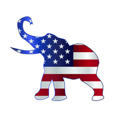 republican elephant flag vector image