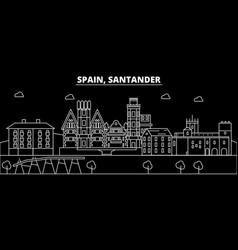 santander silhouette skyline spain - santander vector image
