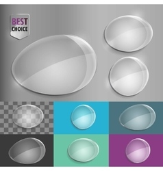 Set of glass speech shape icons with soft shadow vector image