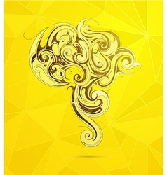 South america artistic shape vector