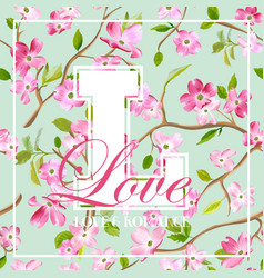 Spring flowers graphic design for t-shirt vector