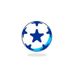star ball logo vector image