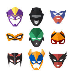 Superheroes masks vector