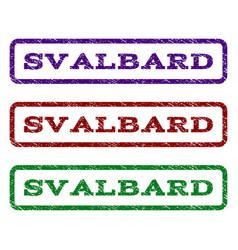 Svalbard watermark stamp vector
