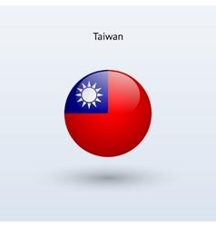 Taiwan round flag vector