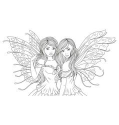 two beautiful fairies vector image