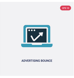 Two color advertising bounce icon from vector