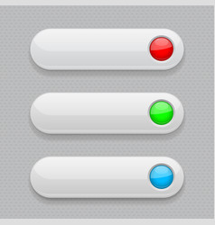 Web buttons white icons with colored tags vector