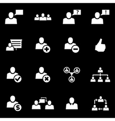 white office people icon set vector image