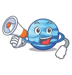 With megaphone plenet uranus images in character vector