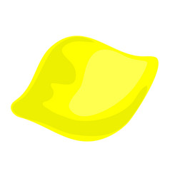 yellow lemon icon cartoon style vector image