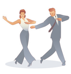 young couple dressed in retro clothes dancing tap vector image