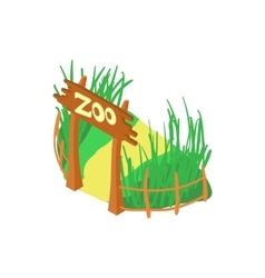 Zoo icon cartoon style vector