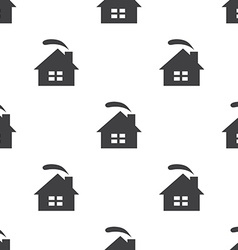 cozy home seamless pattern vector image