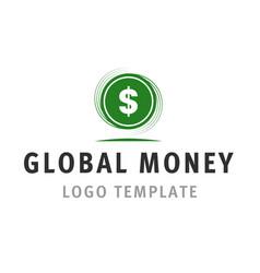 global money logo template vector image