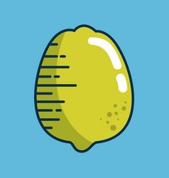lemon fresh fruit handmade drawn vector image vector image