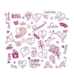 Valentine Cute Elements vector image vector image