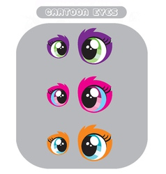 Cartoon eyes vector image vector image