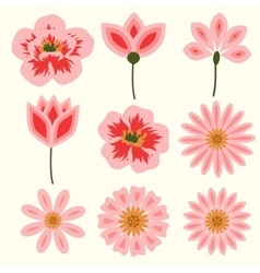 Flowers decorative set vector image vector image
