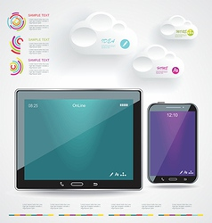 Modern Infographic with a touch screen smartphone vector image