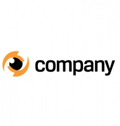 photography eye logo vector image vector image