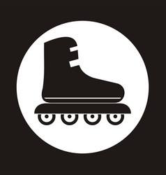 roller skate icon in the white circle vector image vector image