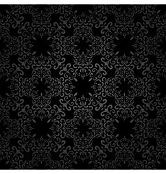 Seamless black pattern vector image vector image