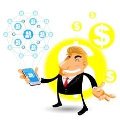 Social Networks Mobile vector image