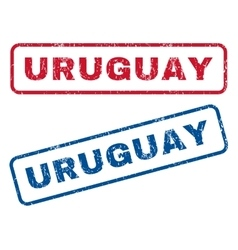 Uruguay Rubber Stamps vector image vector image