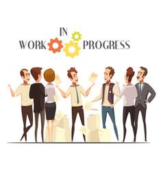 work in progress concept vector image vector image