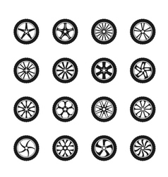 car wheel icons vector image