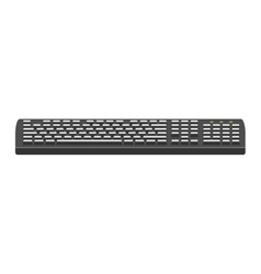 Computer keyboard flat icon vector image
