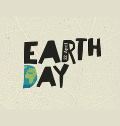 earth day 22 april design template with free vector image vector image