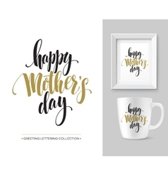 Mothers day hand lettering collection mock-up vector