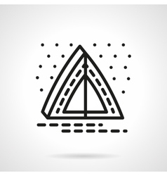 Overnight camping simple line icon vector image vector image
