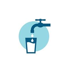Water tap symbol vector image vector image