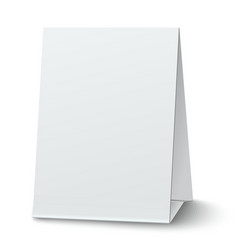 Blank paper table card isolated on white vector image vector image