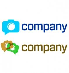 camera logo vector image vector image