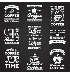 Coffee vintage labels set vector image