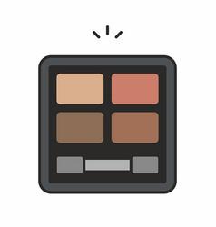 face powder icon vector image vector image