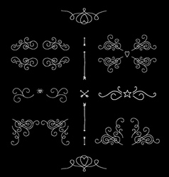 Ornate filigree borders frames design elements vector image