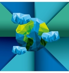 planet earth low poly style vector image