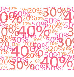 seamless background of discounts vector image