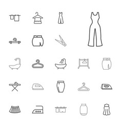 22 cloth icons vector