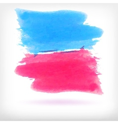 Abstract watercolor brush design elements vector