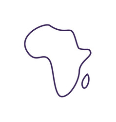 Africa covid19 variant rgb color icon vector