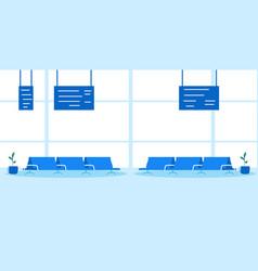 airport waiting hall departure terminal interior vector image