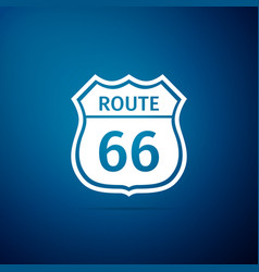 American road icon isolated on blue background vector
