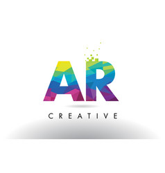 Ar a r colorful letter origami triangles design vector